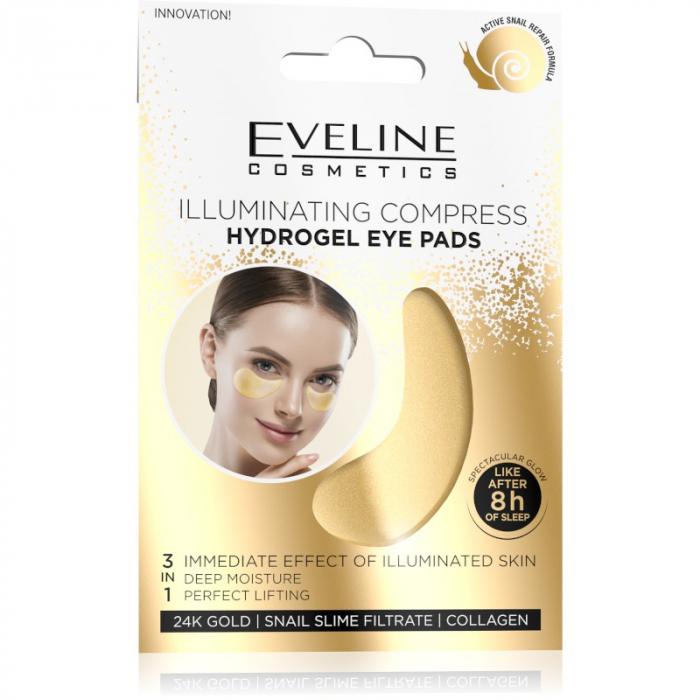 Eveline 24K Gold Illuminating Eye Pads 3in1