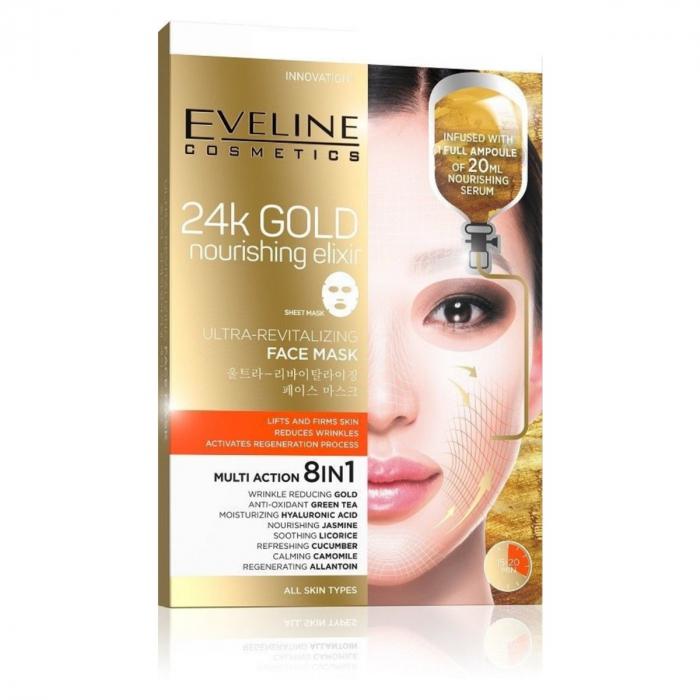 EVELINE 24k GOLD ULTRA-REVITALIZING FACE SHEET MASK
