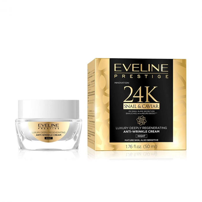 Eveline Prestige 24k Anti-wrinkle Snail&Caviar Night Cream 50ml