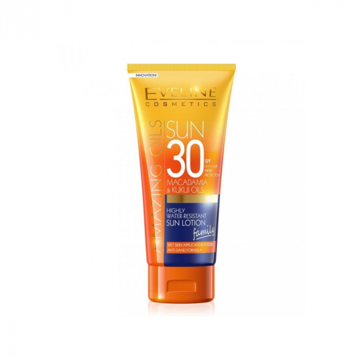 EVELINE AMAZING OILS HIGHLY WATER-RESIST SUN LOTION SPF30 200ML