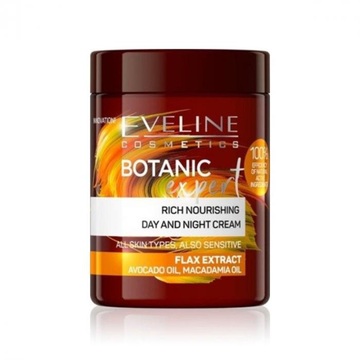 Eveline Botanic Expert Rich Nourishing Day&Night Cream Flax Extract 100ml