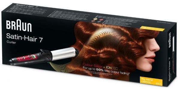 Braun EC2 Satin Hair 7 Curler Curling Iron, 220 Volts