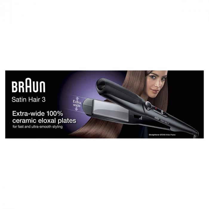 Braun Satin Hair 3 - ST 310 - Hair Straightener with Extra Wide Plates