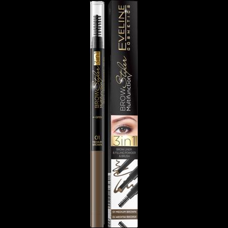Eveline Cosmetics Brow Styler Multifunction 3in1