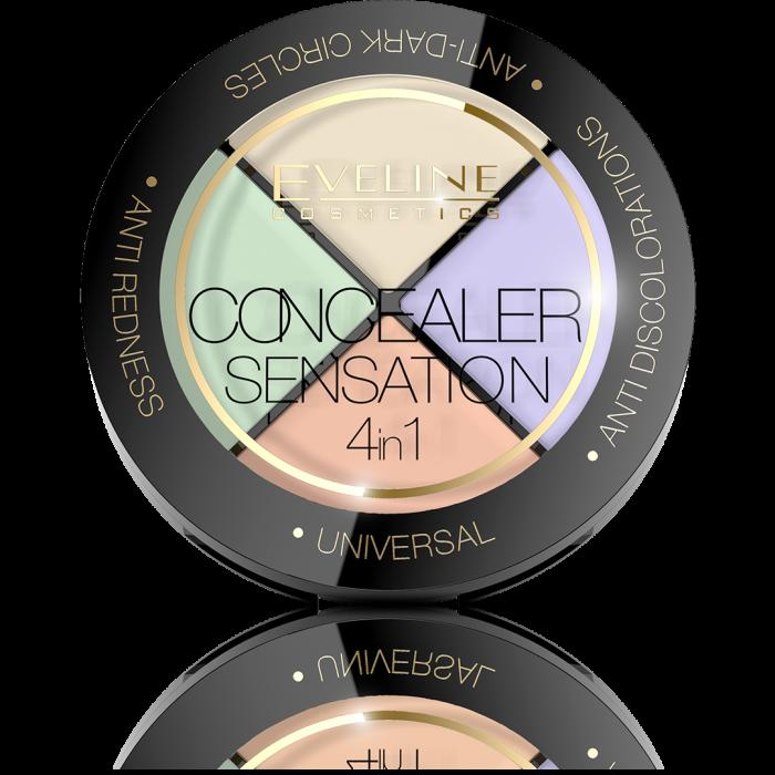 EVELINE CONCEALER SENSATION 4IN1