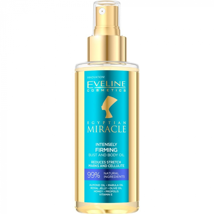 Eveline Egyptian Miracle Intensely Firming Bust & Body Oil 150ml