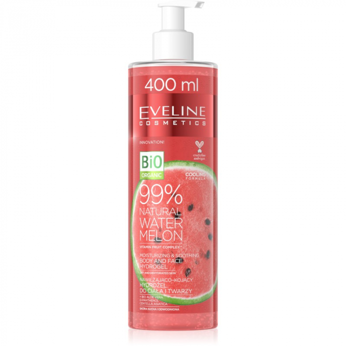 Eveline 99% Natural Watermelon Body & Face Hydrogel 400ml