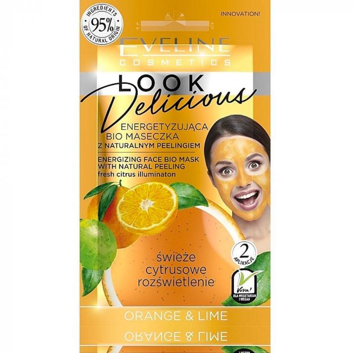 Eveline Look Delicious Energizing Face Mask & Scrub Orange & Lime