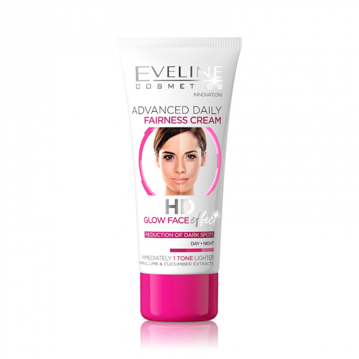 Eveline Advanced Daily HD Glow Face Effect Fairness Cream, Day/Night, 40ml