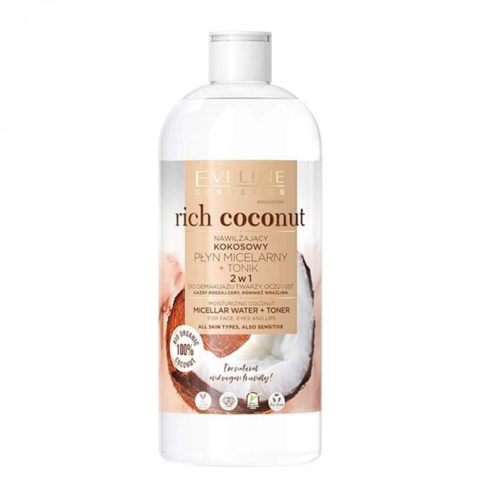 Eveline Rich Coconut  Micellar Water & Toner 500ml