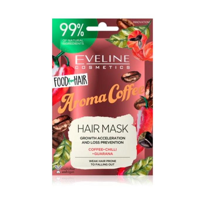 EVELINE FOOD FOR HAIR  AROMA COFFEE HAIR MASK 20ML