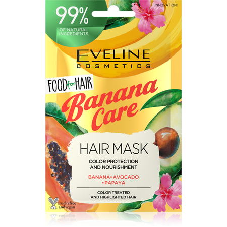 EVELINE FOOD FOR HAIR BANANA CARE HAIR MASK 20ML