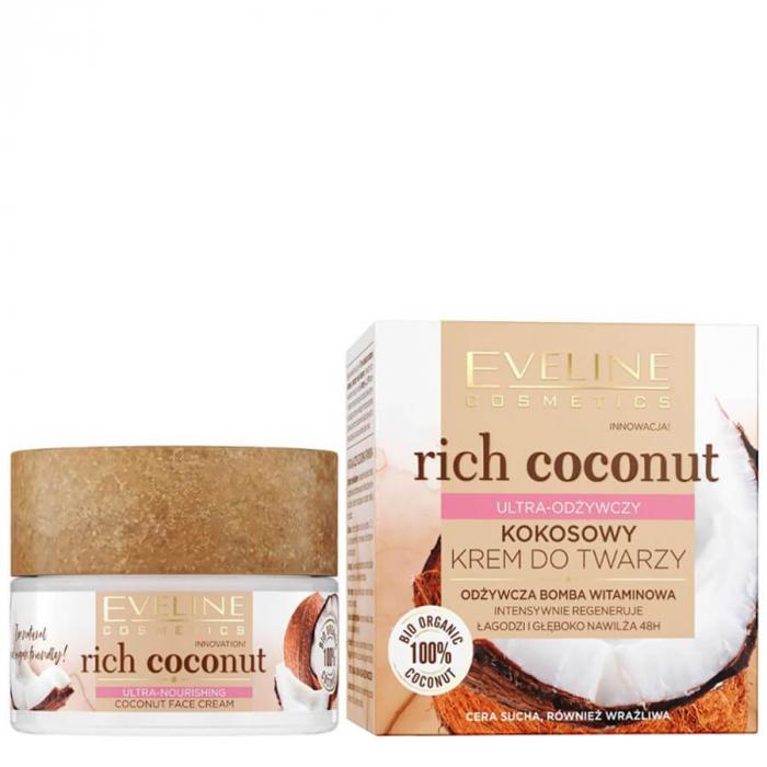 Eveline Rich Coconut Face Cream (dry and sensitive skin)50ml