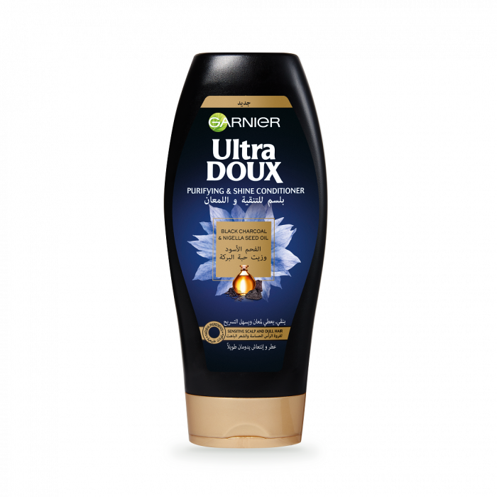 Garnier Ultra Doux Black Charcoal Conditioner 200ml