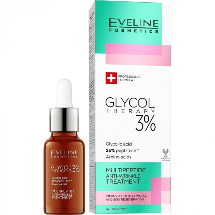 Eveline Glycol Therapy 3% Multipeptide Anti-Wrinkle Treatment 18ml