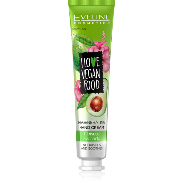 Eveline I Love Vegan Food Hand Cream Avocado And Hibiscus 50ml