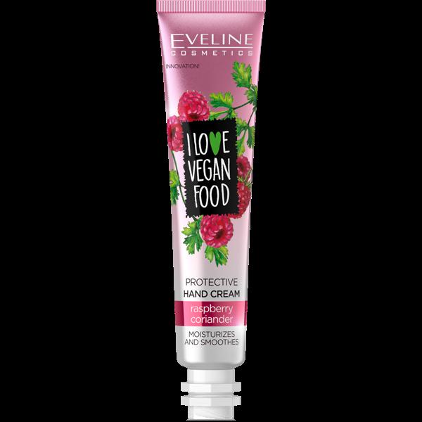 EVELINE I Love Vegan Food Protective Hand Cream Raspberry & Coriander 50ml