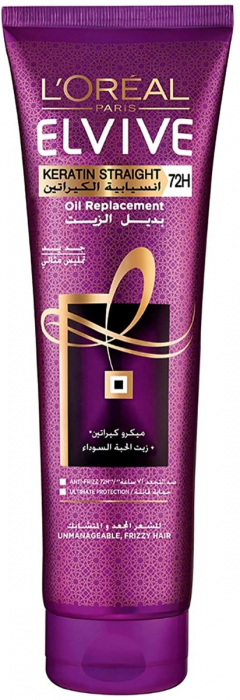 L'Oréal Elvive Keratin Straight Oil Replacement 300 ml