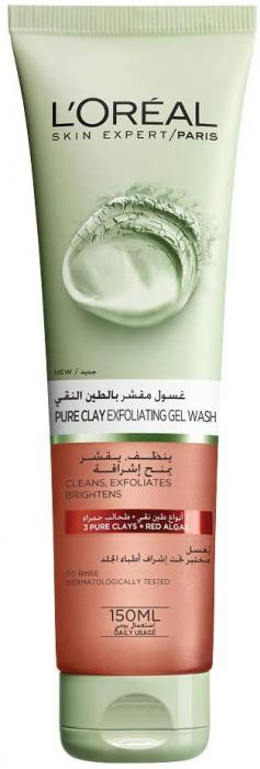 L'Oreal Paris Pure Clay Red Cleanser With Red Algae, Exfoliates & Brightens, 150 Ml