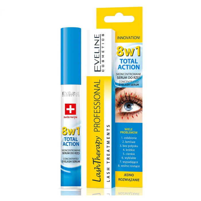 EVELINE LASH THERAPY PROF.CONCENTRATED EYELASH SERUM 8IN1