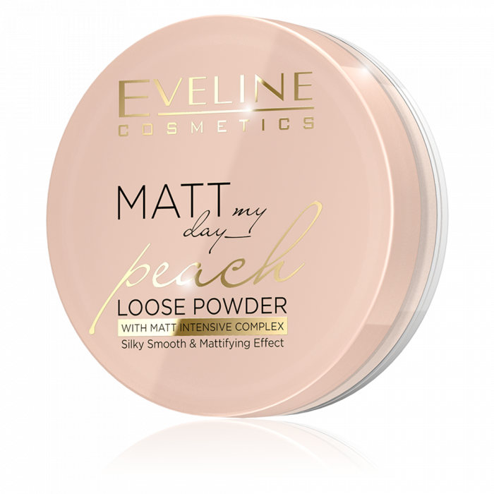 EVELINE MATT MY DAY PEACH INTENSELY SMOOTHING & MATTIFYING LOOSE POWDER WITH MATTIFYING COMPLEX
