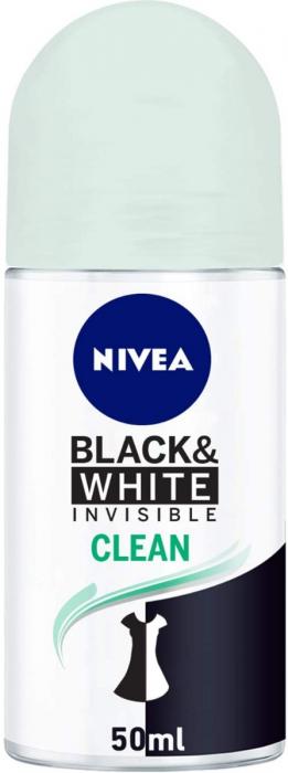 NIVEA Deodorant Female Invisible Black & White Roll-on 50ml