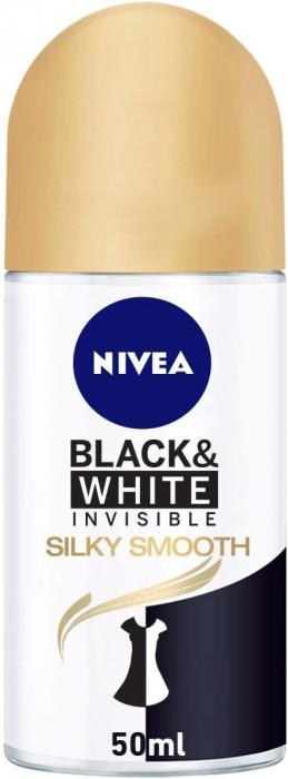 NIVEA Deodorant Female Invisible Black & White Silky Smooth Roll On