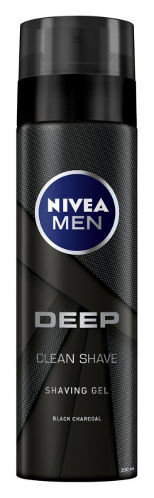 NIVEA Men Black Charcoal Shave Gel DEEP Clean 200ml