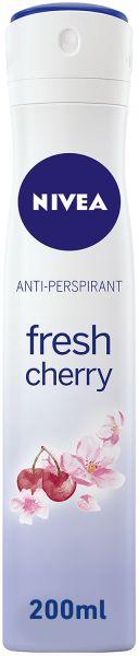 NIVEA Fresh Cherry Deodorant For Women Spray , 200 ml