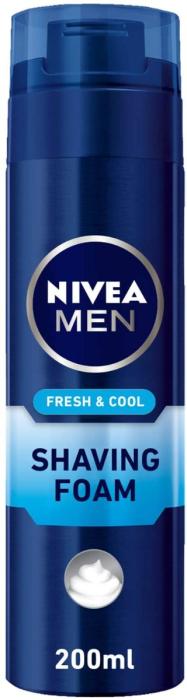 NIVEA MEN FRESH & COOL SHAVING FOAM 200ml