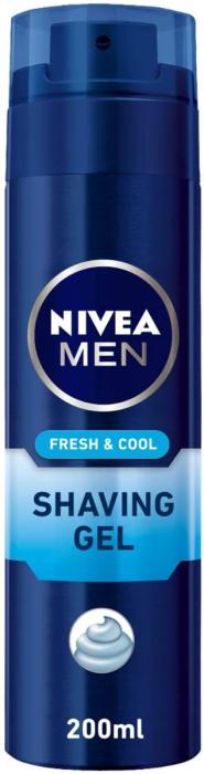 NIVEA MEN FRESH & COOL SHAVING GEL 200ml