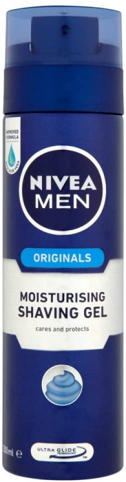 NIVEA MEN PROTECT & CARE MOISTURISING SHAVING GEL 200ml