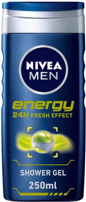 NIVEA Shower Gel For Men Energy 250Ml