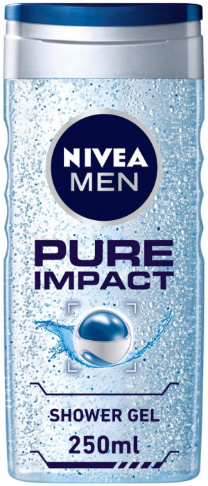 NIVEA Shower Gel For Men Pure Impact 250Ml