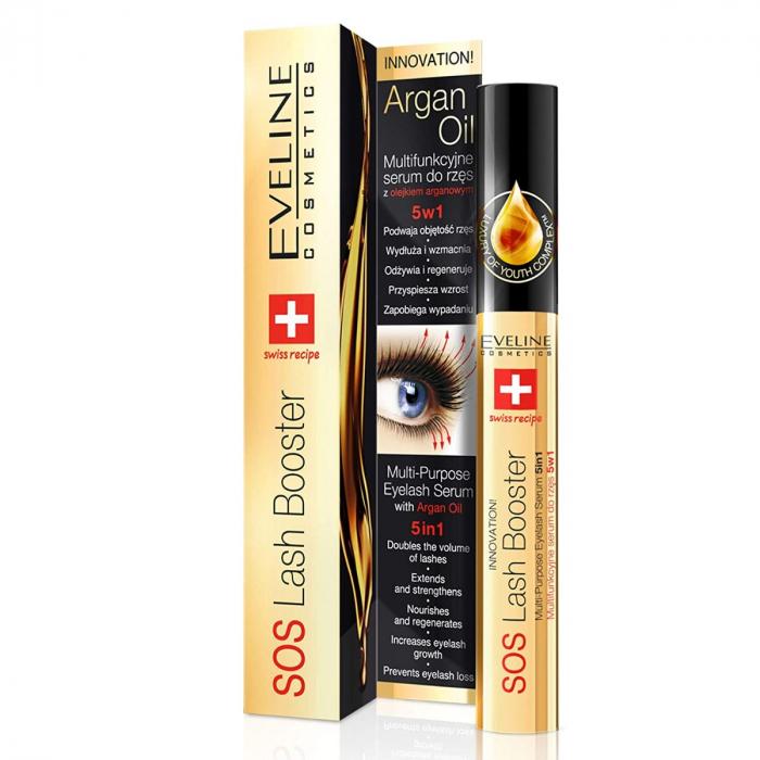 EVELINE SOS Eyelash Serum With Argan Oil 10ml