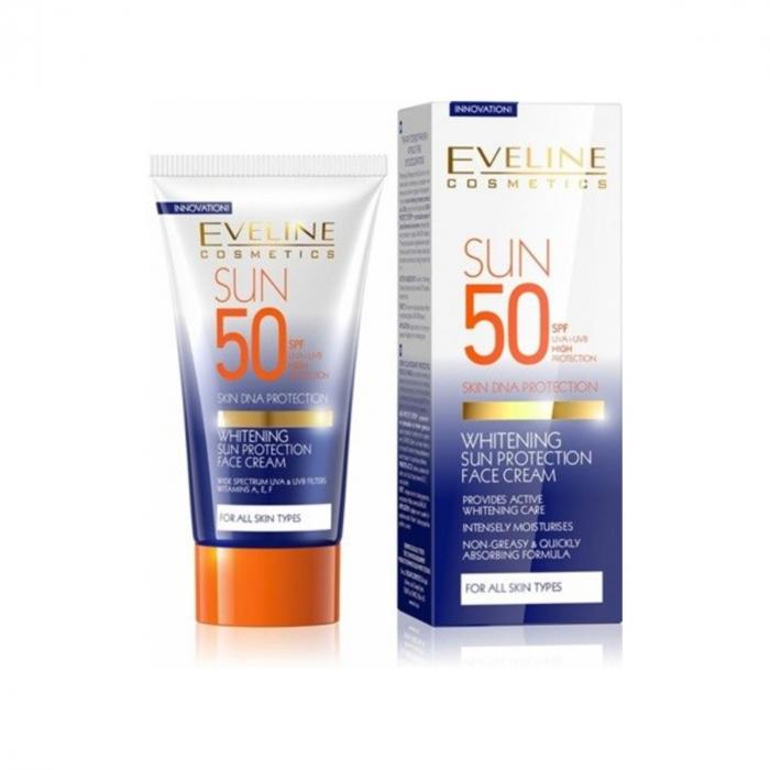 Eveline Whitening Sun Protection Face Cream SPF 50 50ml