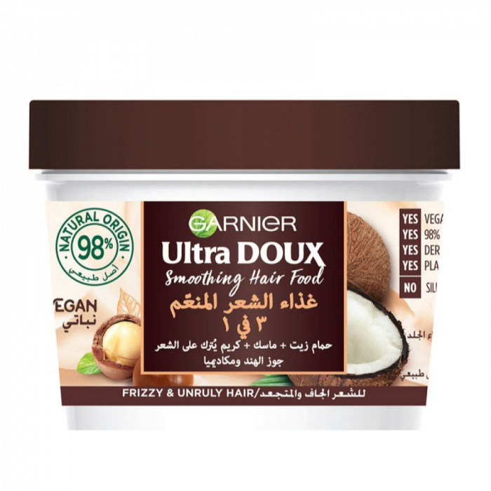 Garnier Ultra DOUX COCONUT AND MACADAMIA HAIR FOOD 390 ml