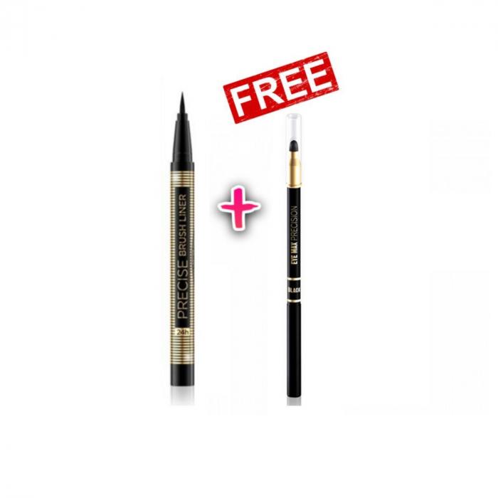 Eveline Cosmetics Precise Brush Eyeliner + EVELINE Eye Max Precision Eyeliner
