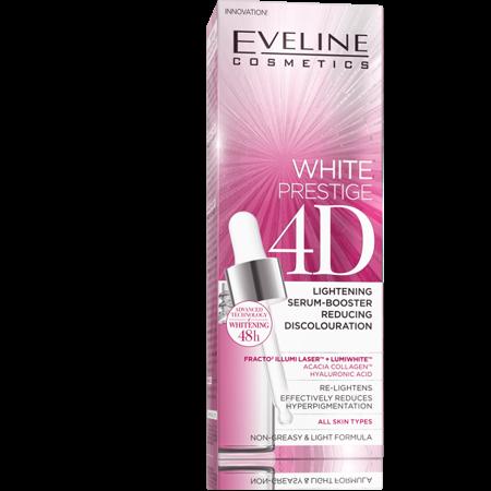 Eveline WHITE PRESTIGE 4D LIGHTENING SERUM-BOOSTER REDUCING DISCOLOURATION 18ML
