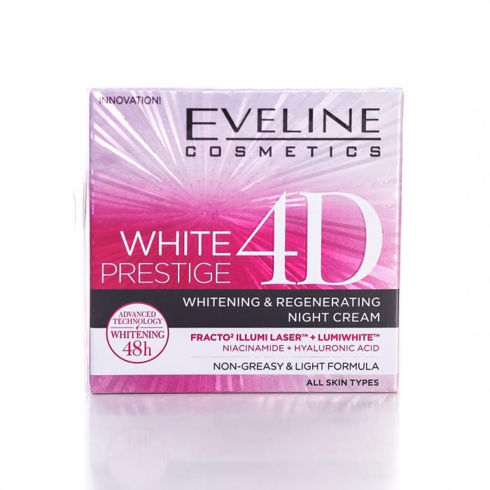 EVELINE COSMETICS WHITE PRESTIGE 4D WHITENING & REGENERATING NIGHT CREAM – 50ML