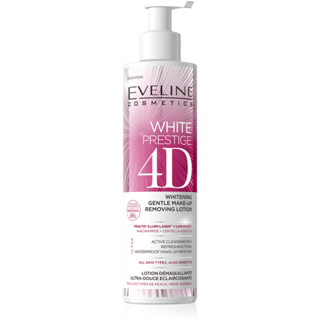 Eveline White Prestige 4D Whitening Gentle Make-Up Removing Lotion 245ml